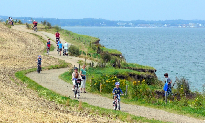 Radtour an der Ostsee Steilküste Brodtener Ufer