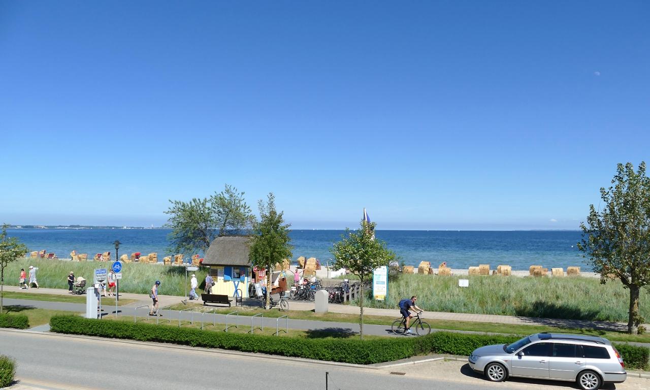 Panorama Henner Hinz Haffkrug Ostsee Promenade
