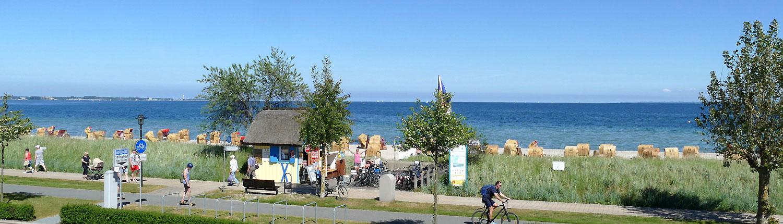 Strandkörbe und Fahradverleih Henner Hinz Haffkrug Ostsee